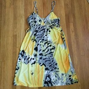 Pretty yellow animal dress light dress